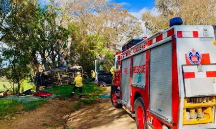 Gums Lane crash victim air-lifted to Canberra