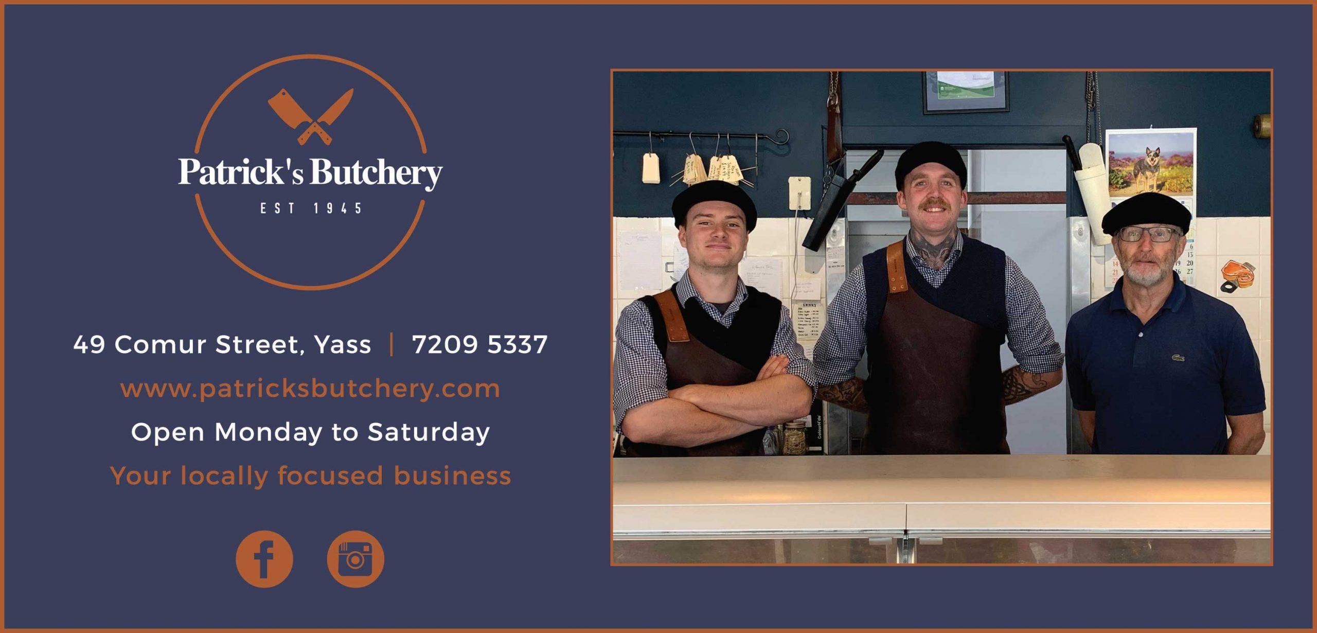 Ad for Patrick's butchery