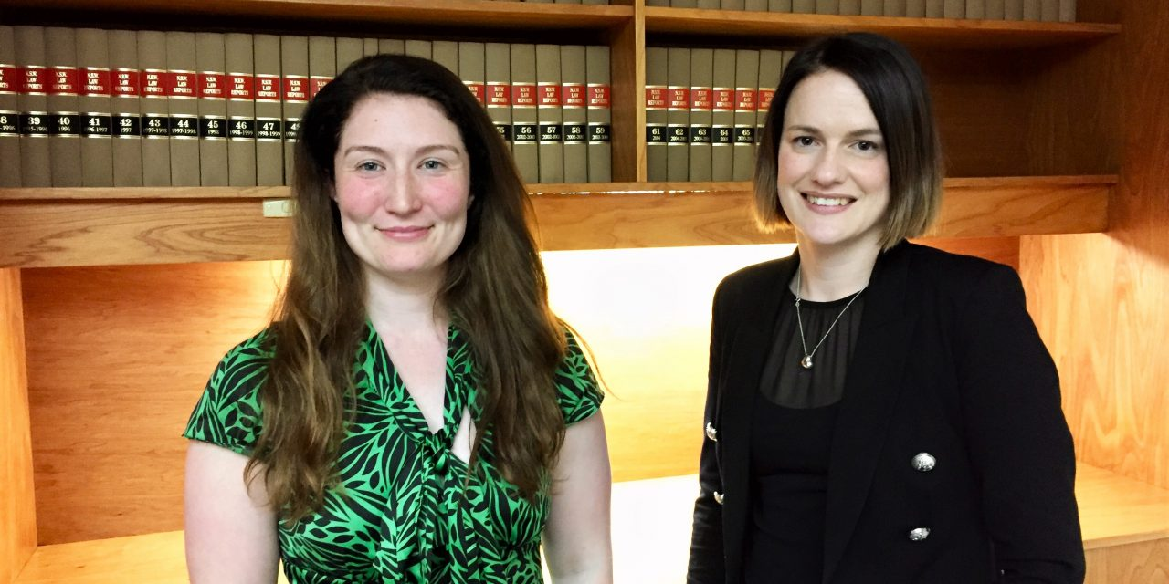 First female partners at Davis Faulkner Lawyers