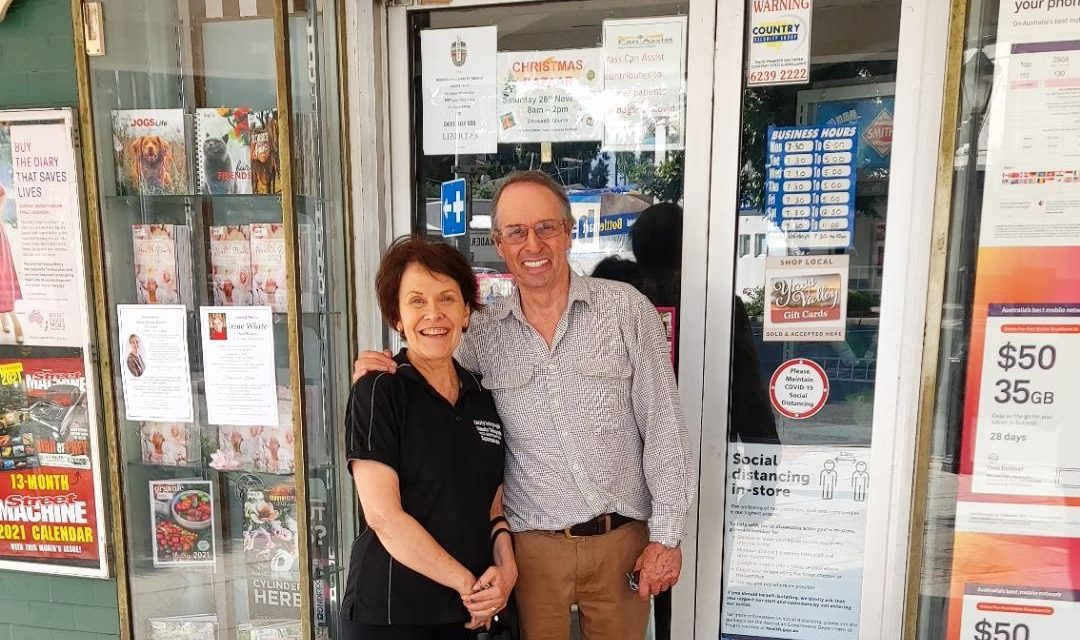 The Greggs moving on after 17 years at Yass newsagency