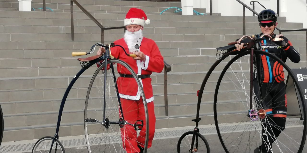 Santa to ride a Penny Farthing down the main street of Yass!