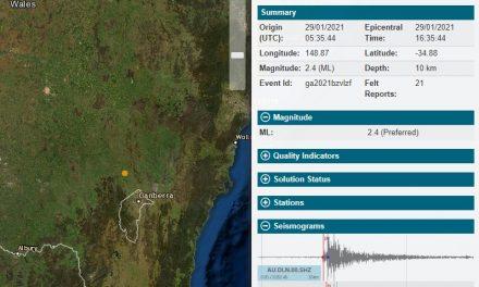 Felt the earthquake Yass?