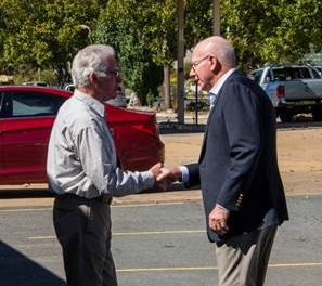 Moving Men's Shed member account of Governor-General's visit to Yass