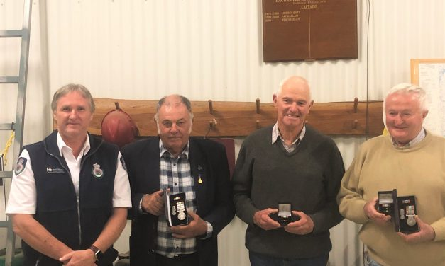 Back Creek Rural Fire Crew's 150 years of service recognised