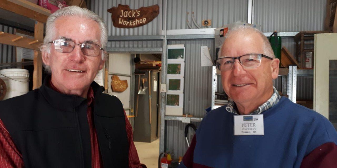 Peter Davidson Becomes Men's Shed President