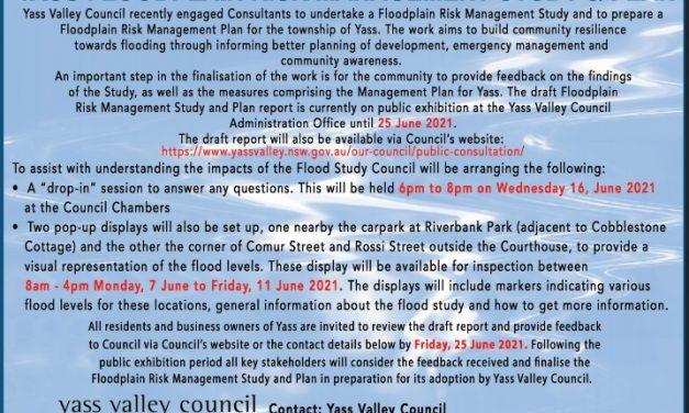 Yass Floodplain risk management Study & Plan