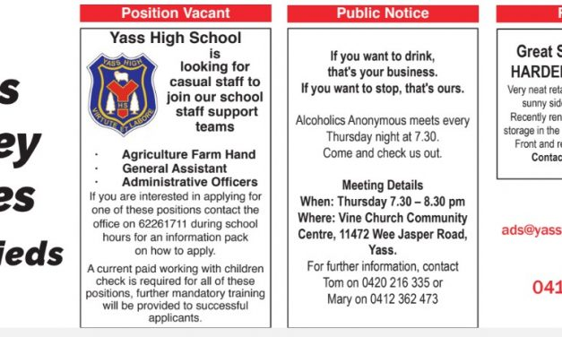 Yass Valley Times Classifieds